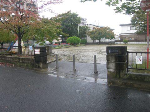 雨の日の公園